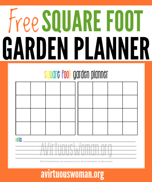 Free square foot garden planner printable for Patio planner online free
