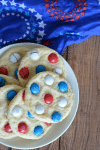 Red, White & Blue M&M Sugar Cookies