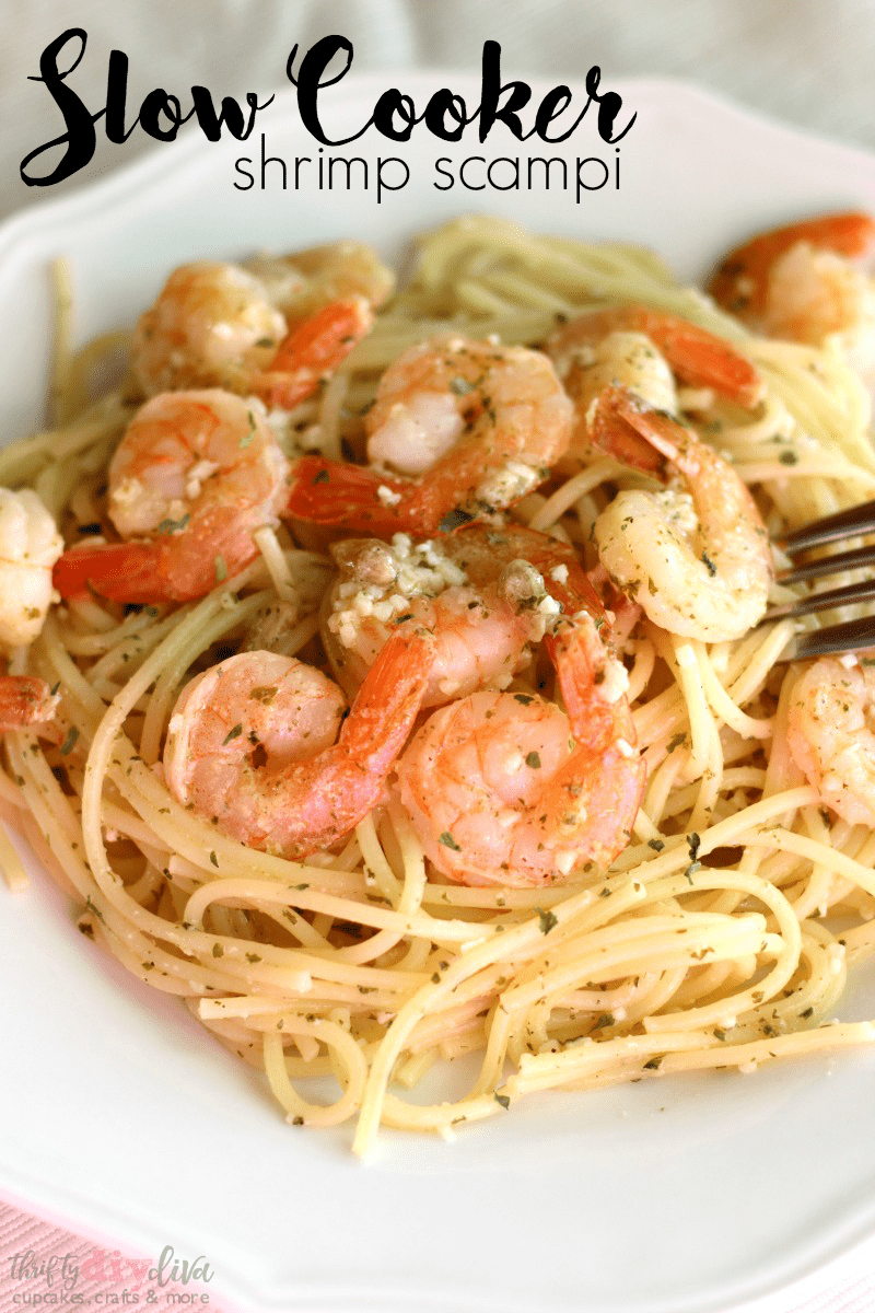 Slow Cooker Shrimp Scampi Easy Crock Pot Dinner Recipe