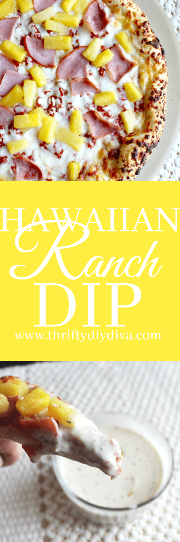 Homemade Pineapple Ranch Dressing (Hawaiian Dip)