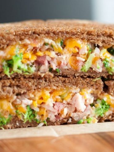 Ham & Broccoli Grilled Cheese