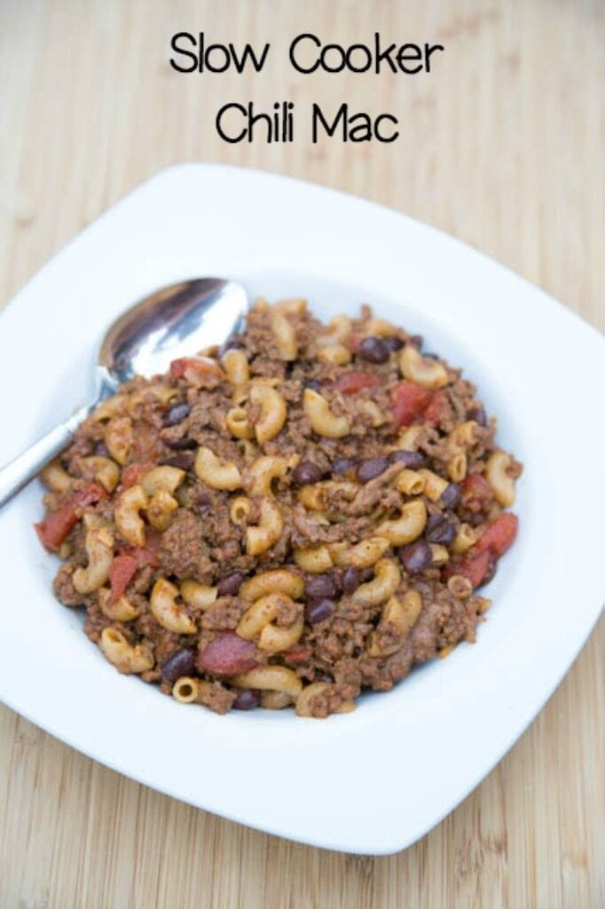 Slow Cooker Chili Mac from $5 Dinners
